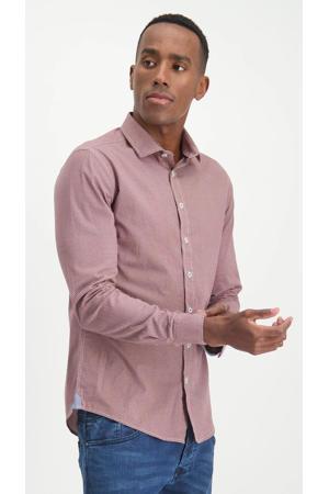 slim fit overhemd met all over print rhubarbleaves