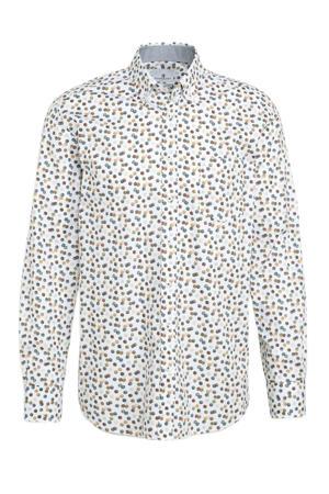 regular fit overhemd met all over print brique/mango