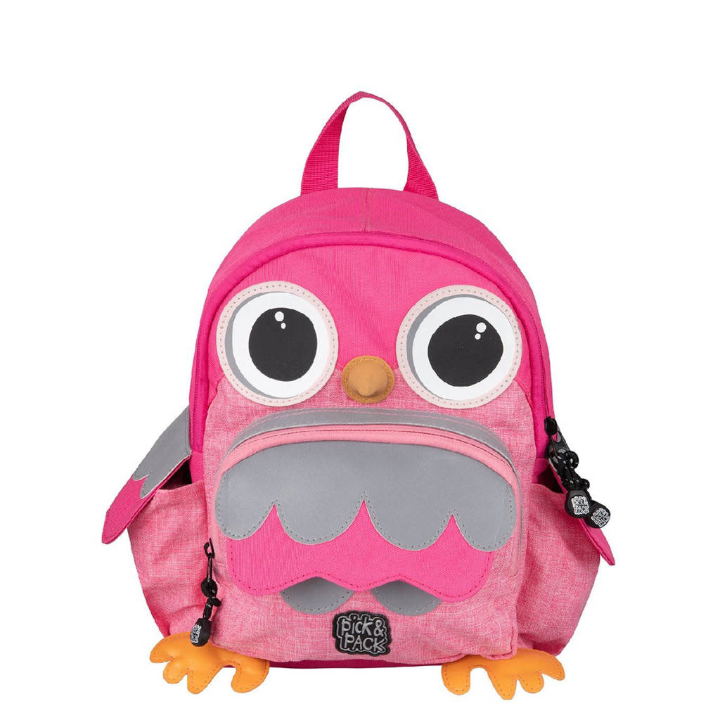 Pick & Pack  rugzak Owl Shape roze, Roze