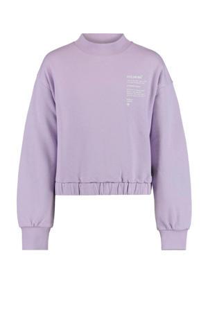 sweater Sabi met tekst lila