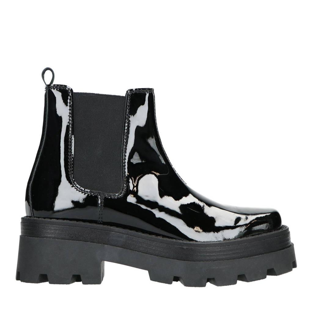 Sacha   lakleren chelsea boots zwart, Zwart
