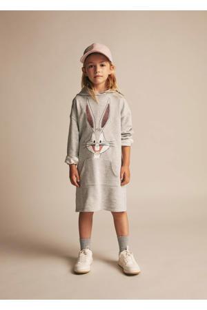 Bugs Bunny jurk met printopdruk middengrijs