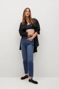 Mango high waist straight fit jeans dark denim, Blue denim