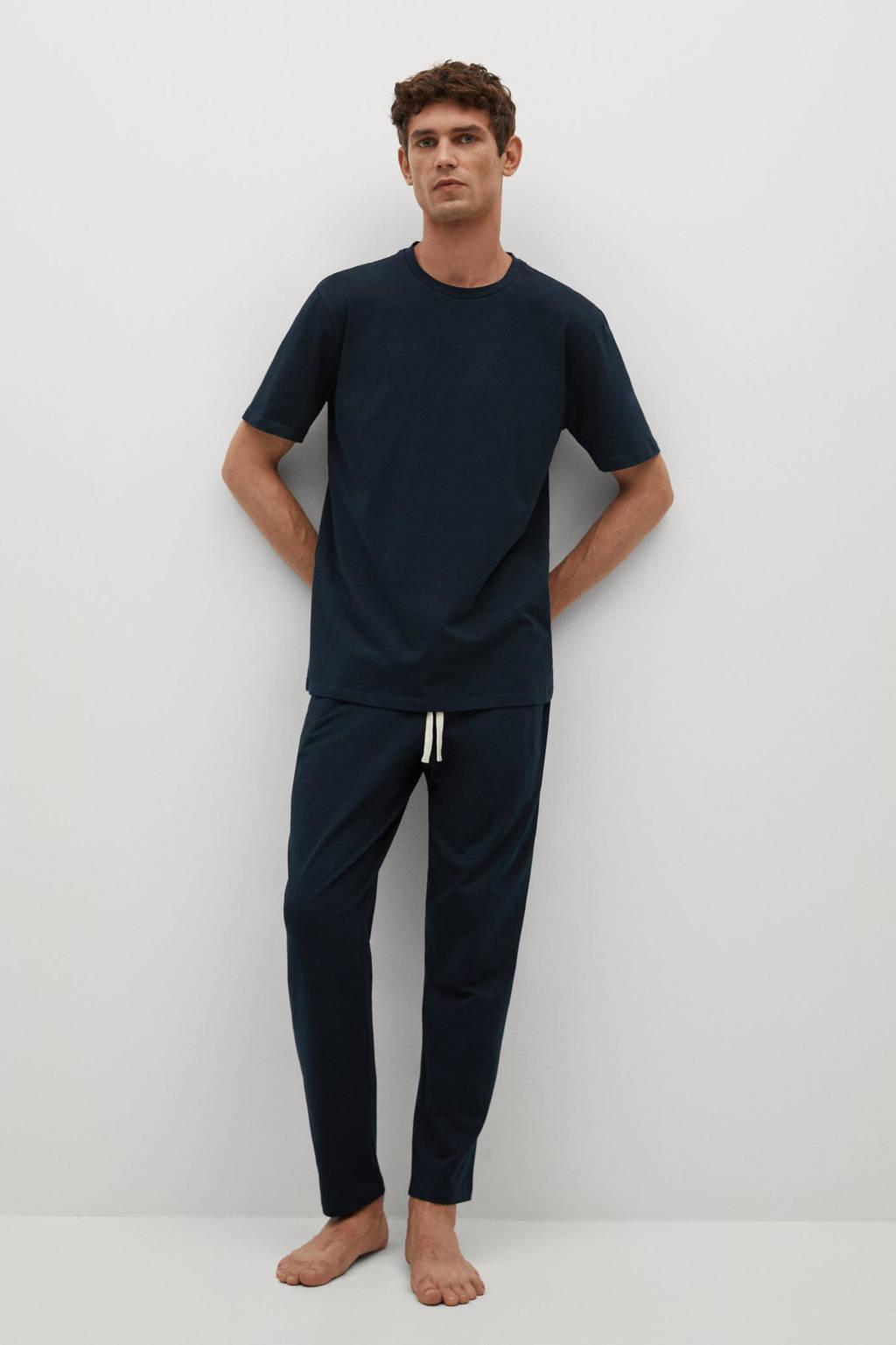 Mango Man pyjama donkerblauw, Marine
