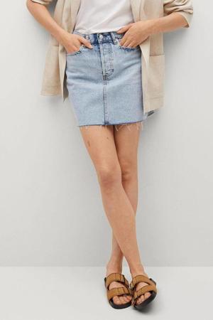 mini rok in light blue denim
