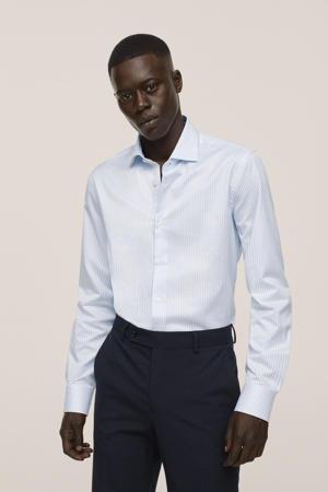 gestreepte slim fit overhemd wit