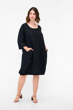 jurk XMYAMY met plooien zwart