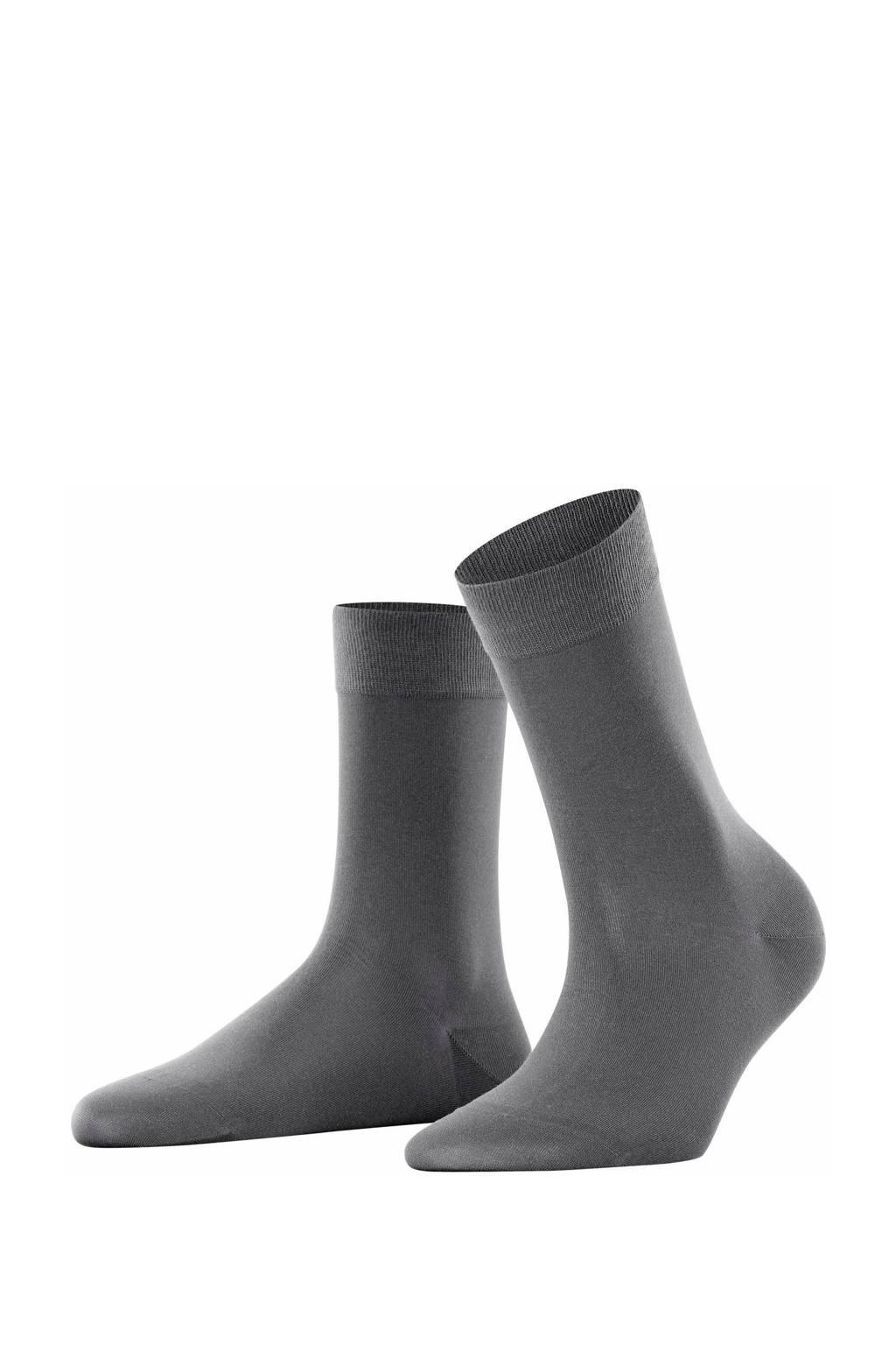 FALKE Cotton Touch sokken grijs, Grijs/Platinum