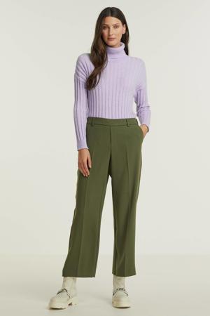 cropped straight fit broek Bai Leia Pant van gerecycled polyester groen