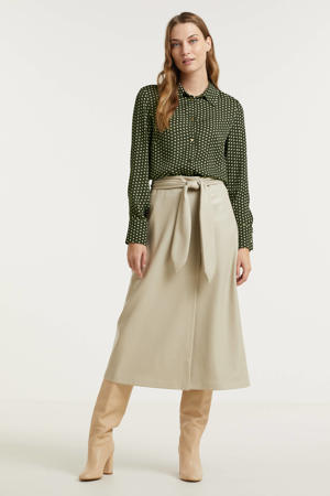 blouse Jodie met all over print groen