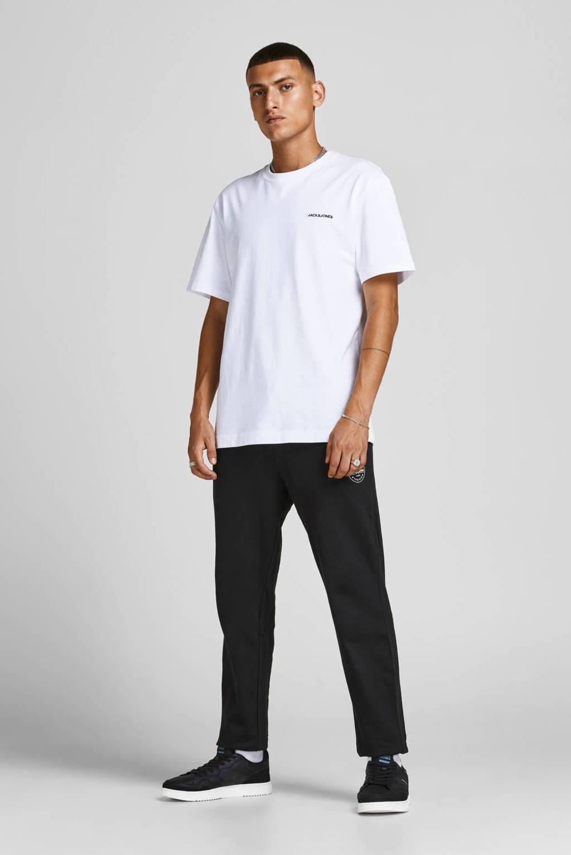 JACK & JONES JEANS INTELLIGENCE regular fit broek JJIGORDON JJSHARK met printopdruk zwart/grijs - (set van 2), Zwart/grijs