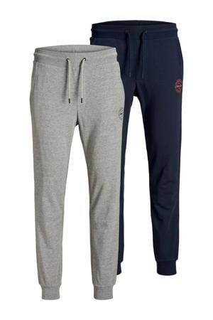 joggingbroek (set van 2) grijs/donkerblauw