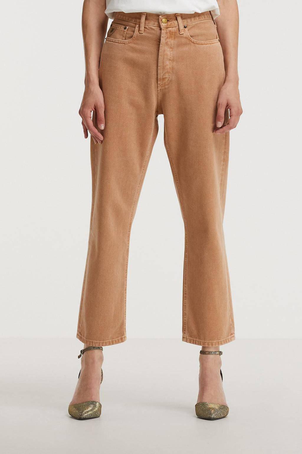 Lois high waist flared broek Raval-16 beige, Beige