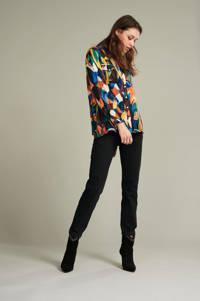 POM Amsterdam blouse Artist Palette met grafische print blauw, Blauw