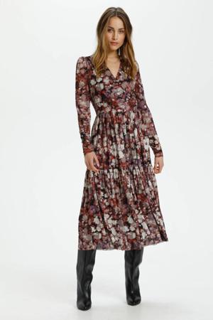jurk van gerecycled polyester bruin