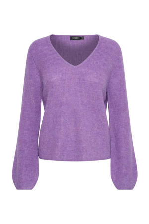 gemêleerde trui Tuesday met wol paars