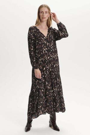 jurk SLZaya met all over print zwart/ecru