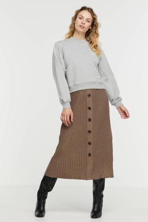 gemêleerde sweater 'A' grijs