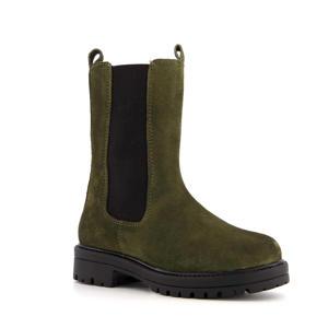 hoge suède chelsea boots groen