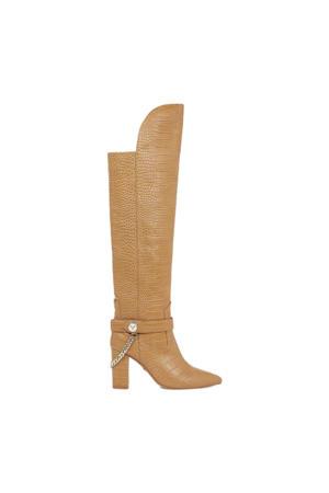 Felice Boots  leren overknee laarzen lichtbruin