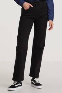 Lois high waist straight fit jeans River zwart, Zwart