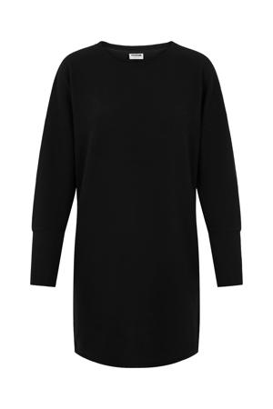 fijngebreide T-shirtjurk NMCITY met vleermuismouwen zwart