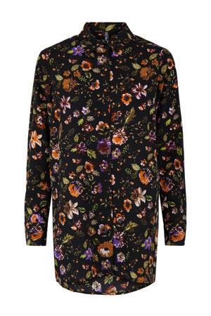 gebloemde blouse PCFALISHI zwart
