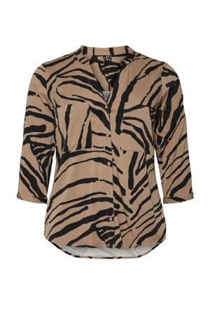 top VMZEE met zebraprint beige/zwart