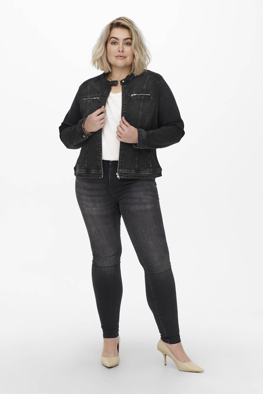ONLY CARMAKOMA high waist skinny jeans CARMAYA antraciet, Antraciet