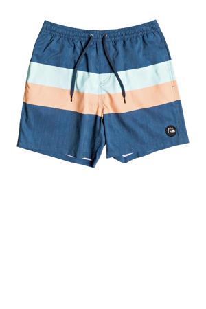 zwemshort blauw/lichtblauw/oranje