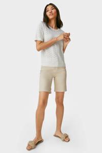 C&A Yessica straight fit broek met biologisch katoen beige, Beige