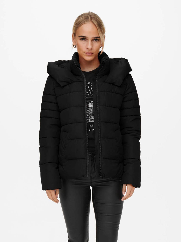 ONLY gewatteerde jas ONLANDREA zwart, Zwart