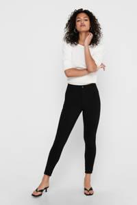 ONLY high waist skinny broek ONLNANNA zwart, Zwart