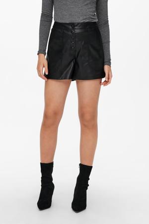 coated slim fit korte broek ONLSANDY zwart