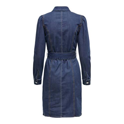 ONLY spijker blousejurk ONLRAMINA met plooien