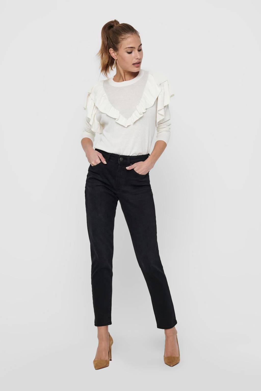 ONLY mom jeans ONLVENEDA black denim, Black denim