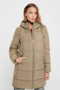 ONLY gewatteerde jas ONLDOLLY beige, Beige
