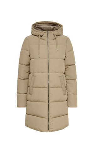 gewatteerde jas ONLDOLLY beige