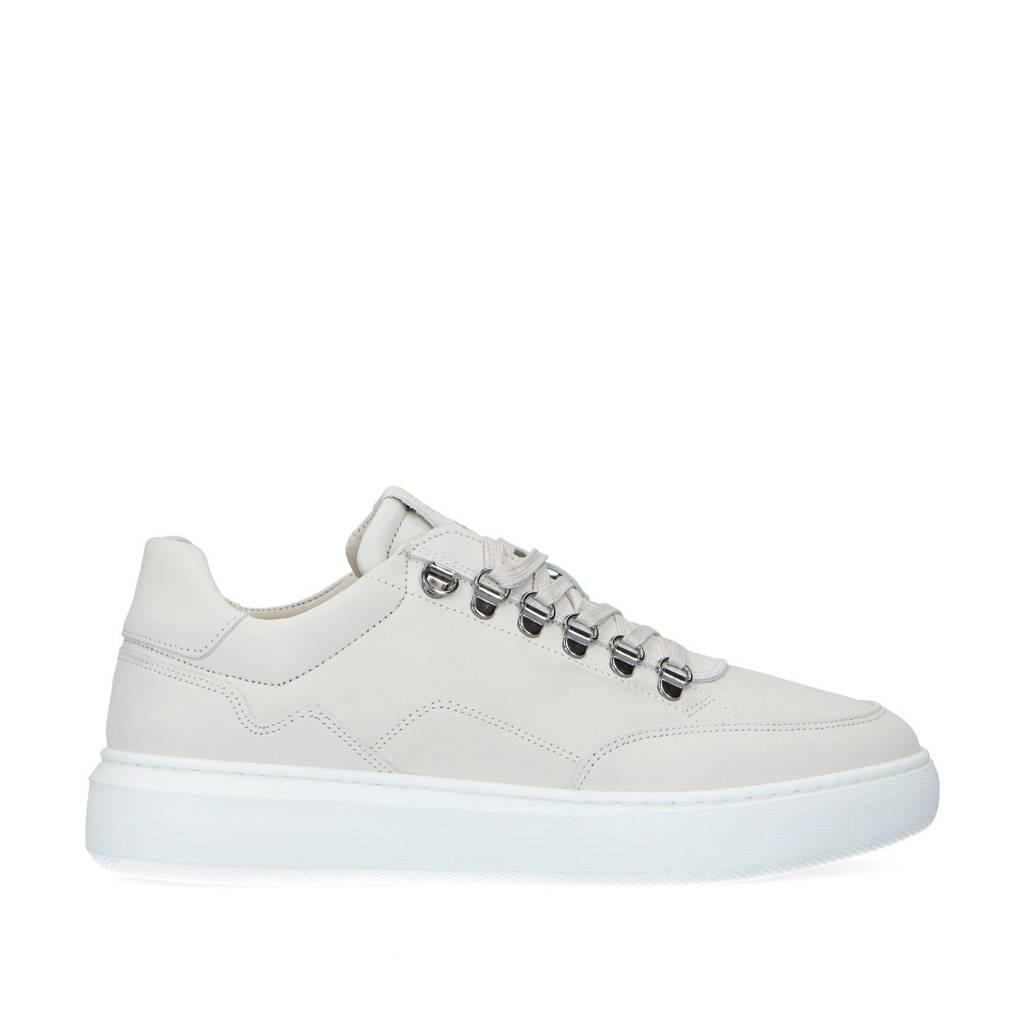 Manfield   nubuck sneakers off white, Ecru/Off white