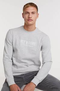 ONLY & SONS sweater ONSALBERTO van biologisch katoen grijs melange, Grijs melange
