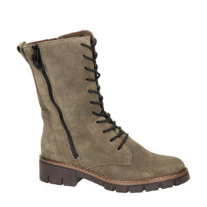 Dover  suède veterboots taupe