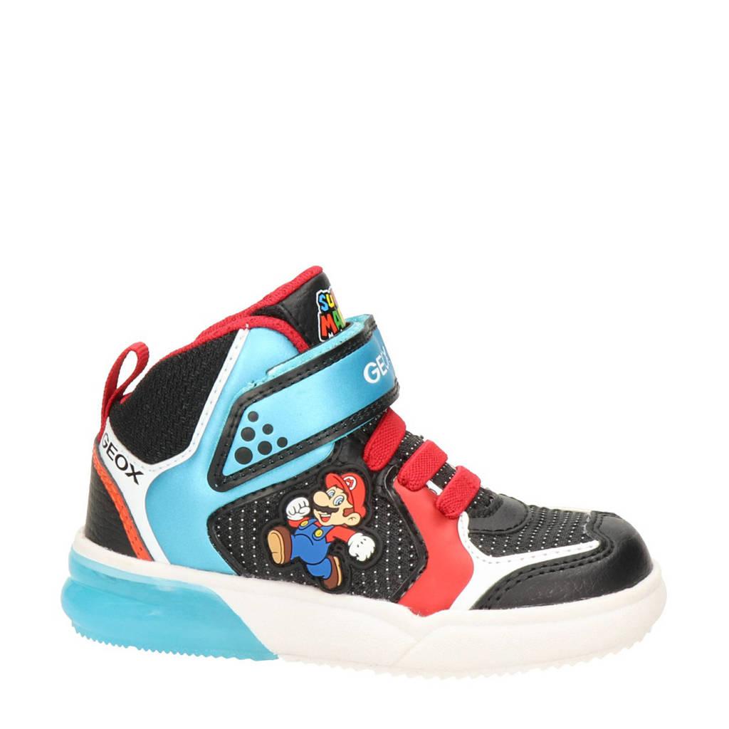 Geox Gray Jay Super Mario hoge sneakers zwart/multi, Zwart/multi