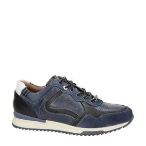 Corridor  leren sneakers blauw