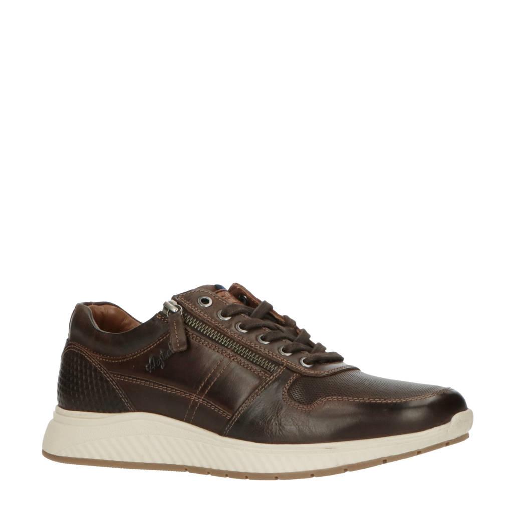 Australian   leren sneakers bruin, Bruin