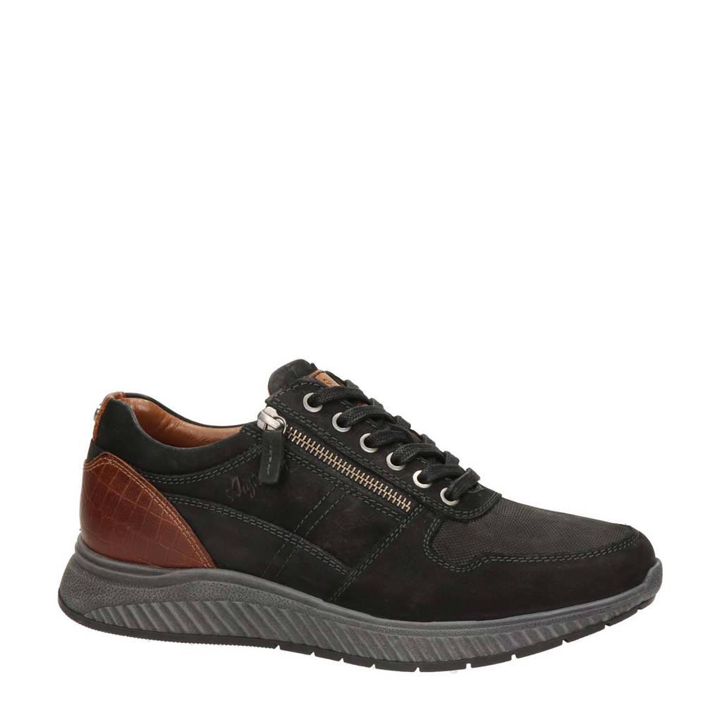 Australian Footwear  nubuck sneakers zwart/bruin, Zwart/bruin