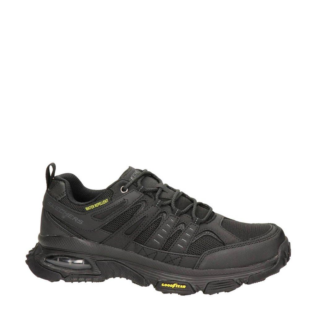 Skechers Air Envoy  leren wandelschoenen zwart, Zwart