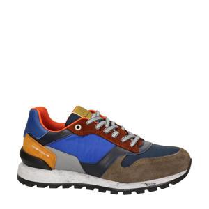 leren sneakers blauw/multi