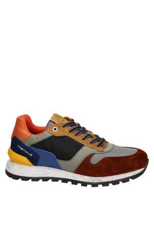 leren sneakers grijs/multi