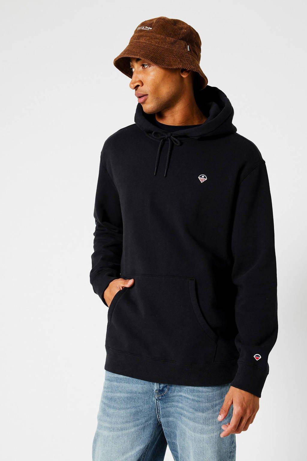 America Today hoodie Silas  zwart, Zwart