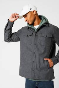 America Today gemêleerd regular fit overhemd Holt grey melange